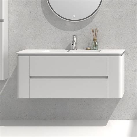 meuble salle de bain vasque 120 cm meuble salle de bain blanc laqu 233 120 cm vasque