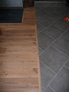 parquet et carrelage sol pinterest With joint entre carrelage et parquet