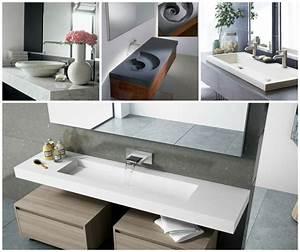 Plan De Travail Salle De Bain : plan de travail salle de bain quelles sont les options ~ Premium-room.com Idées de Décoration