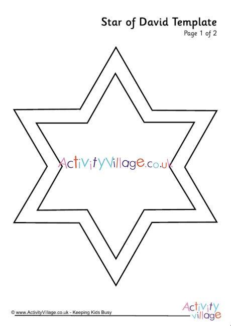 star  david template