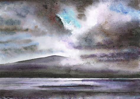 mark leggett gorgeous watercolor landscapes  scotland