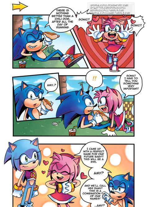 Sonic Doodle I Drew A Mini Sonamy Comics I Wanted To