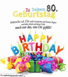 Besinnliches Zum 80 Geburtstag : geburtstagskarten zum ausdrucken 80 geburtstag geburtstagsspr che welt ~ Frokenaadalensverden.com Haus und Dekorationen