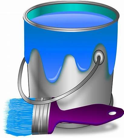 Paint Bucket Pot Brush Clipart Transparent Peinture