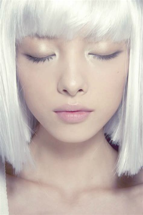 Hair Color White by Bionic 183 Deerspiration Edgy Hairstyle