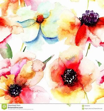 Seamless Flowers Naadloos Behang Zomerbloemen Spring Nave