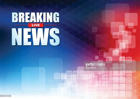 Live Breaking News Headline In Blue And Red Color Pixels