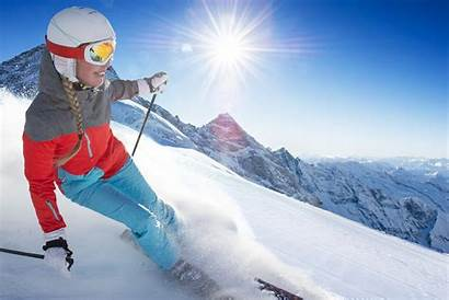 Skiing Snow Woman Mountain Winter Wallpapers Background