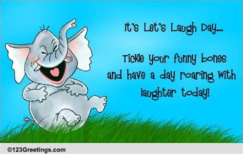 tickle funny bones lets laugh day ecards greeting cards