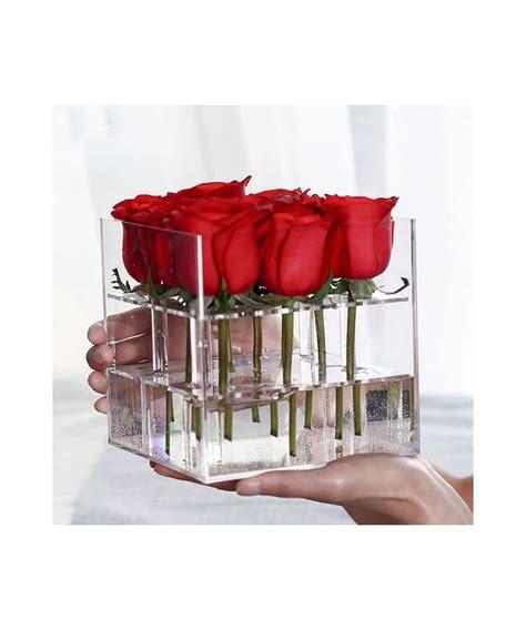 vasi in plexiglass n 15 vasi contenitori 20x20h15 cm centrotavola in