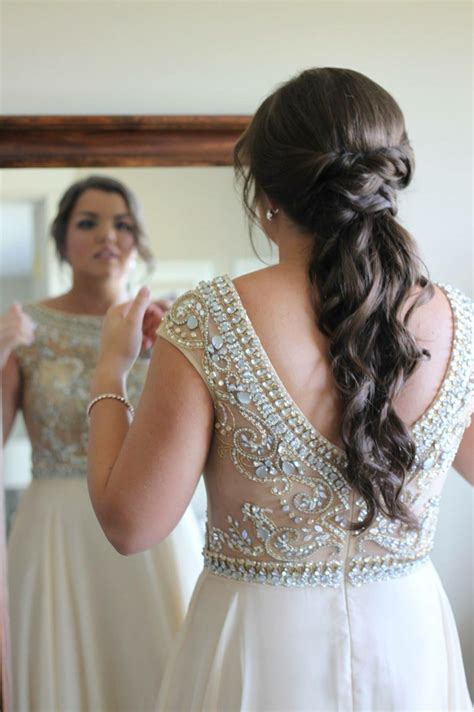 prom hair curly ponytail twisted ponytail prom