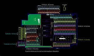Solar Panel Distribution Diagram In Autocad