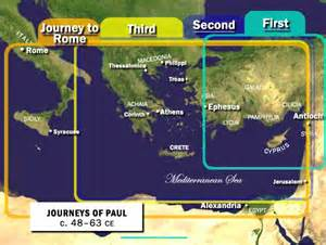 Paul First Missionary Journey Map