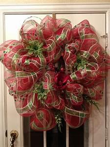 Diy, Deco, Mesh, Christmas, Wreath