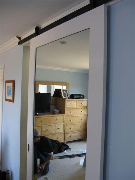sliding barn door mirror barn door in belmont stuff to