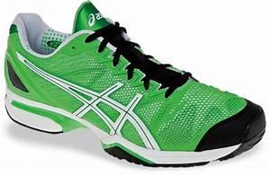 Men s Asics Gel Solution Speed Tennis Shoes Neon Green