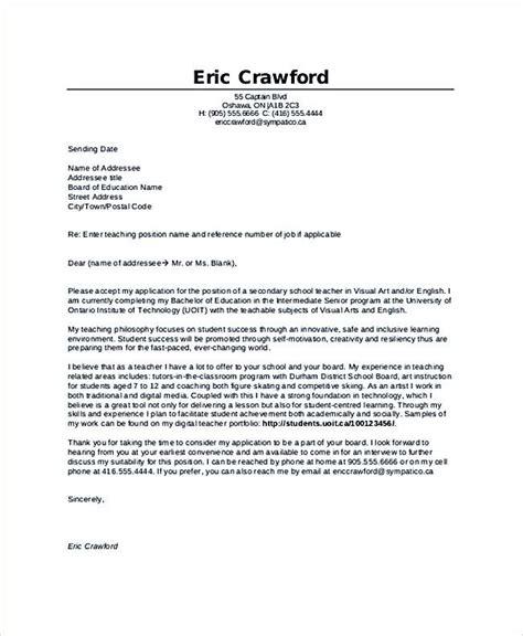 sample teacher candidate resume  coverletter teaching