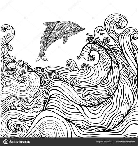 Dolfijnen In De Zee Kleurplaat by Dolfijnen Kleurplaat Volwassenen