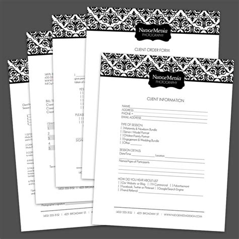 photography business forms  critical  lauriecosgrovedesign