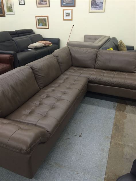 chateau dax corisca pc leather sectional wrf chaise