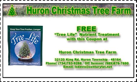 huron tree farm serving downriver metro detroit coupon