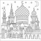 Coloring Castle Thousand Et Orient Pages Adult Nights sketch template