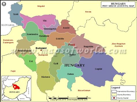 map  pest county hungary
