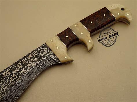 top ten kitchen knives damascus bowie knife custom handmade damascus