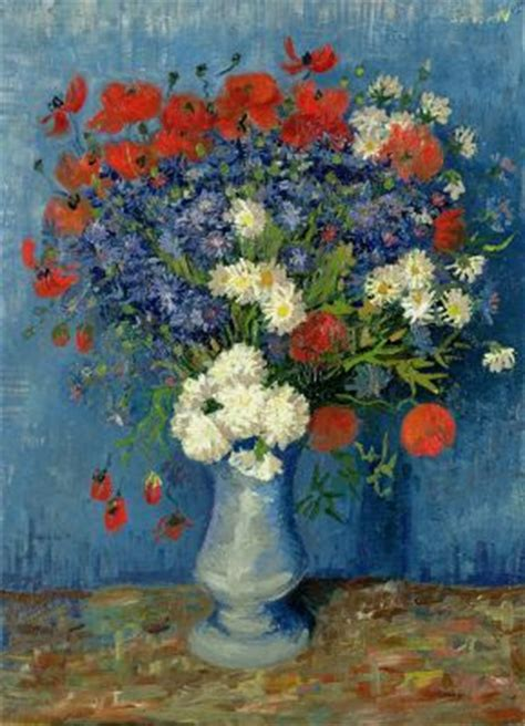 Vase With Poppies Vincent Gogh by Gogh Paintings Vincent Gogh Vase With