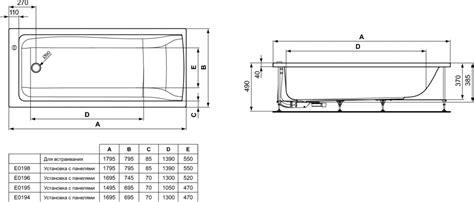 Product Details E0198  Baignoire 180 X 80 Cm Ideal