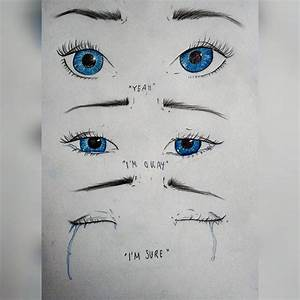 sad girl cry drawing on Instagram