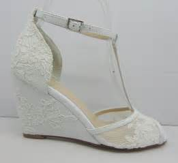 wedge heel wedding shoes white lace wedding shoes lace wedge bridal shoes peeptoes wedding shoes wedge heel lace shoes