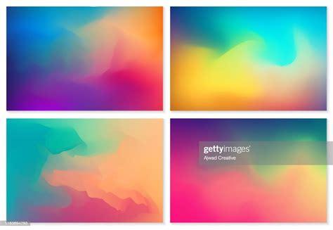set   colorful blurred waving background