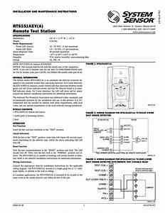 System Sensor Rts151key  U0410  User Manual