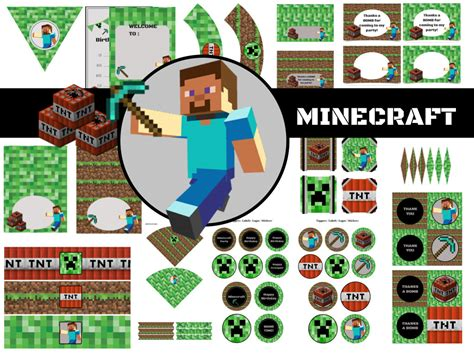 minecraft birthday pack magical printable