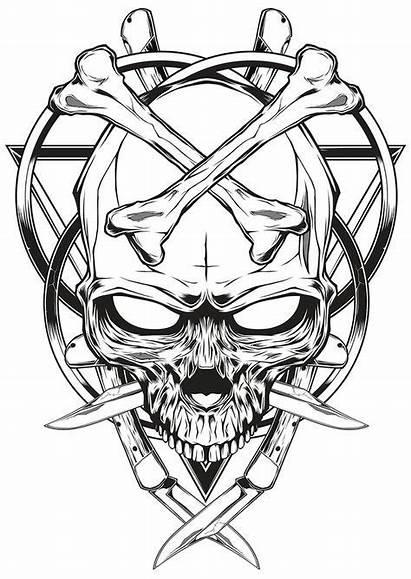 Skull Drawings Tattoos Tattoo Knife Drawing Brothers