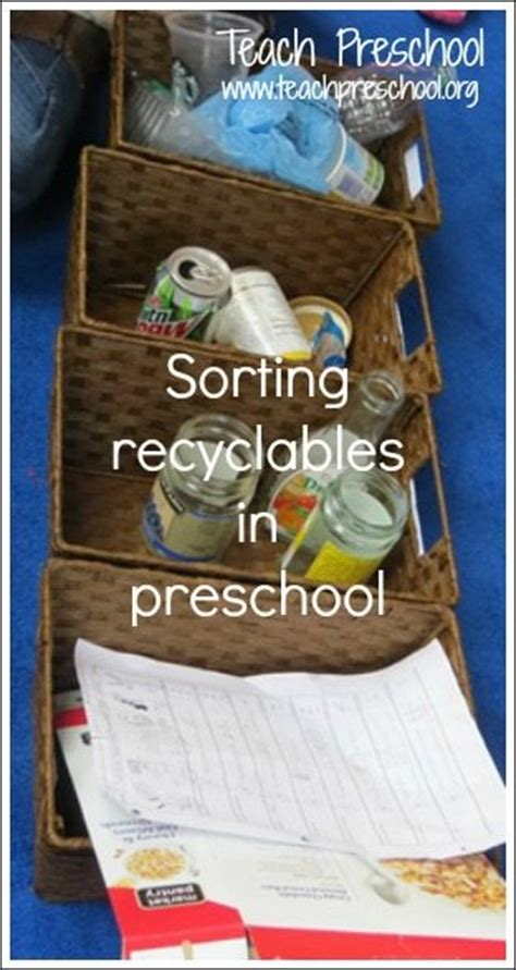 recycling lesson plans for preschool sorting recyclables in preschool teach preschool 584