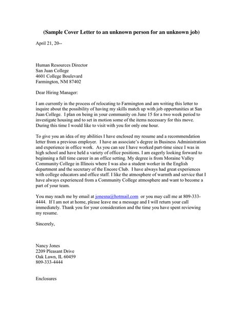 How To Address An Unknown Person In A Cover Letter by How To Address An Unknown Person In A Cover Letter Cheap