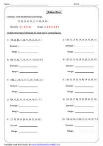 Coordinate Plane Worksheet Gallery For Gt Domain And Range Worksheets With Answers