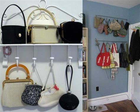 Closet Hooks For Purses by 40 Handbag Storage Solutions And Home Organizers For Small