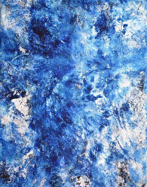Ocean Blue Abstract Art Paintingi Painting By Carollynn Tice