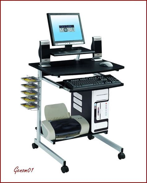 Mobile Student Computer Desk With Wheels Modern Home Pc