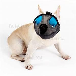 Short Snout Dog Muzzle Breathable Mesh Dog Muzzles Mask ...