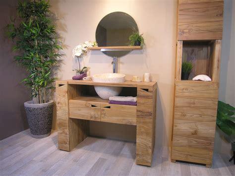 meuble salle de bain bois castorama