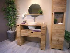 Salle De Bain Teck : salle de bain teck meilleures images d 39 inspiration pour ~ Edinachiropracticcenter.com Idées de Décoration