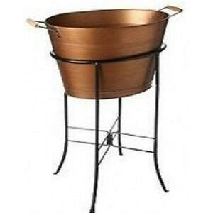 tub cooler with stand antique copper oval tub stand outdoor bbq
