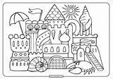 Sandcastle sketch template