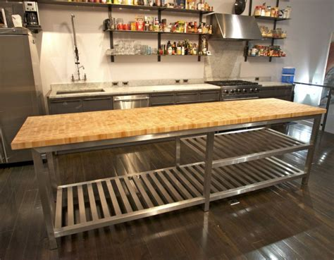 22 stainless steel kitchen island with butcher block top