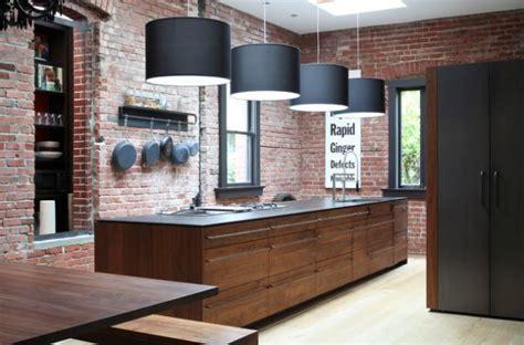 article sur la cuisine brique et cuisine 15 modèles de murs en brique