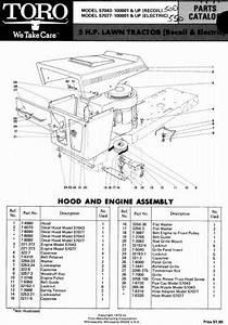 Tractor 1971 Toro 5hp Lawn Tractor D U0026a Ipl Wiring Specs